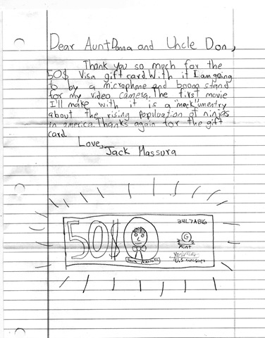 why you should make your kid write thank you notes