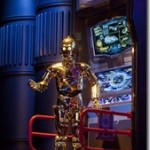 "THREEPIO -- C-3PO, the fussy protocol droid from the ""Star Wars"" film saga, is one of the famous characters guests encounter in Star Tours - The Adventures Continue, a new 3-D attraction at Disneyland park in Anaheim, Calif. The attraction also is thrilling guests at the Walt Disney World Resort in Lake Buena Vista, Fla.  (Paul Hiffmeyer/Disneyland Resort)"